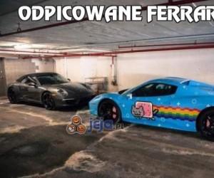 Odpicowane Ferrari...