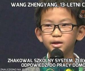 Wang Zhengyang, 13-letni chłopak