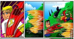 Superman i Batman w akcji - trollowanie Flasha