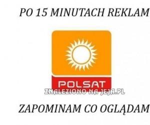 Polsat - reklamy przerywane filmami