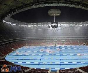 Stadion Narodowy - Woda mu nie straszna