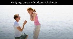 Jak oświadczają się mężczyźni i kobiety