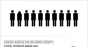 Ludzie dzielą się na dwie grupy