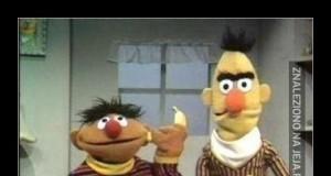 Bert próbował się nie śmiać