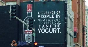 Reklama polskiej wódki w Chicago