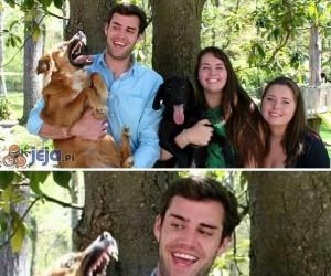 Pies chyba tego nie lubi...