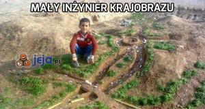 Mały inżynier krajobrazu