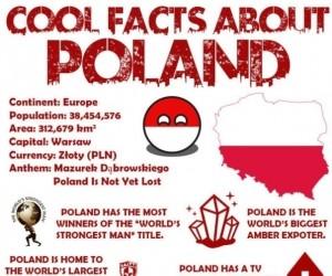 Angielska plansza z ciekawostkami o Polsce - robi wrażenie!