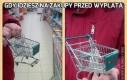 Gdy idziesz na zakupy przed wypłatą