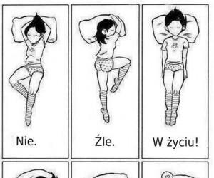 Najlepsza pozycja do spania