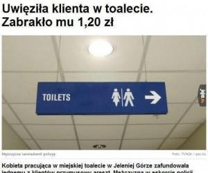 Uwięziony w toalecie