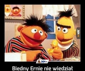 Biedny Ernie nie wiedział