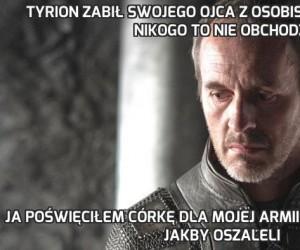 Tyrion zabił swojego ojca z osobistych pobudek i nikogo to nie obchodzi