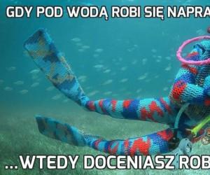 Gdy pod wodą robi się naprawdę zimno...
