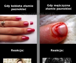 Połamany paznokieć