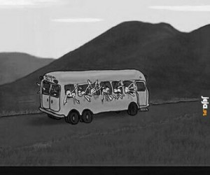 Uwaga na ręce w autobusie
