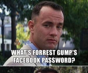 Jakie hasło ma Forrest Gump na FB?