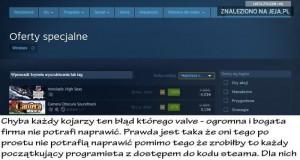 Błędy na Steam