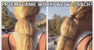 Przemycanie wódki we włosach?