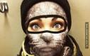 Zwierzęce maski dla narciarzy