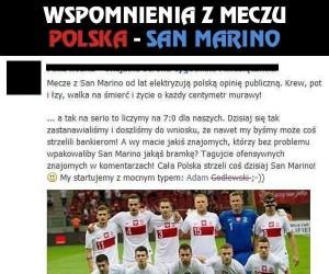 Wspomnienia z meczu Polska - San Marino