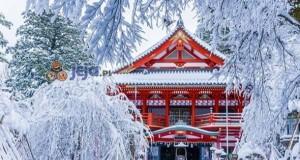 Świątynia Natadera zimą, Japonia