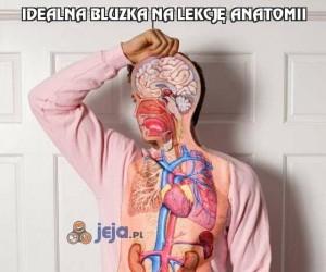 Idealna bluzka na lekcję anatomii