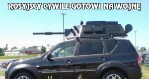 Rosyjscy cywile gotowi na wojnę