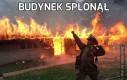 Budynek spłonął