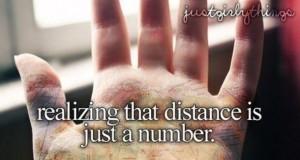 Odległość to tylko liczba