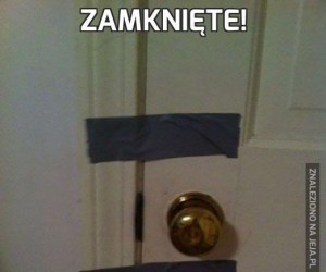 Zamknięte!