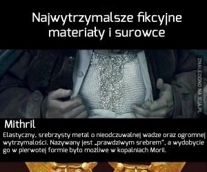 Najpotężniejsze fikcyjne materiały