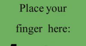 Przytrzymaj swój palec na kropce