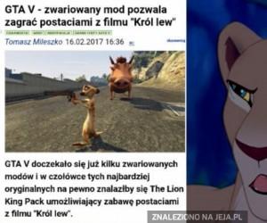Skaza zastrzelił Mufasę i odleciał odrzutowcem