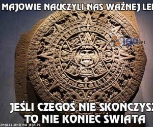 Ważna lekcja od Majów