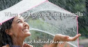Kiedy kupisz swoją pierwszą parasolkę