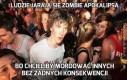 Ludzie jarają się zombie apokalipsą