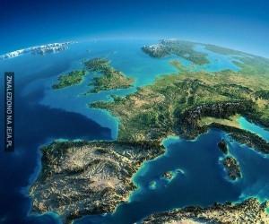 Mapa Europy 3D