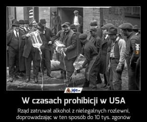 W czasach prohibicji w USA