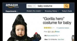 """Kostium dla bobasa - """"Goryli bohater"""""""