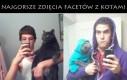 Najgorsze zdjęcia facetów z kotami