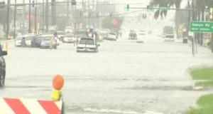 Takie tam na rowerze... Podczas powodzi...