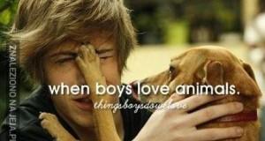 Gdy chłopcy kochają zwierzęta