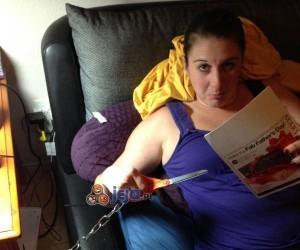 Żona, która gubi nożyczki