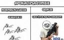 Apokalipsa zombie - normalni ludzie vs gracze