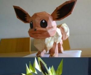 Papierowe Pokemony 3D