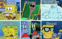 X-Meni według Spongeboba