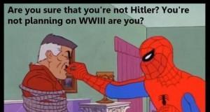 Spiderman vs Hitler