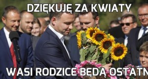 Dziękuję za kwiaty