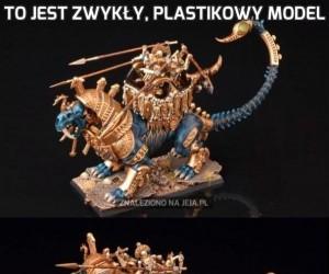 To jest zwykły, plastikowy model